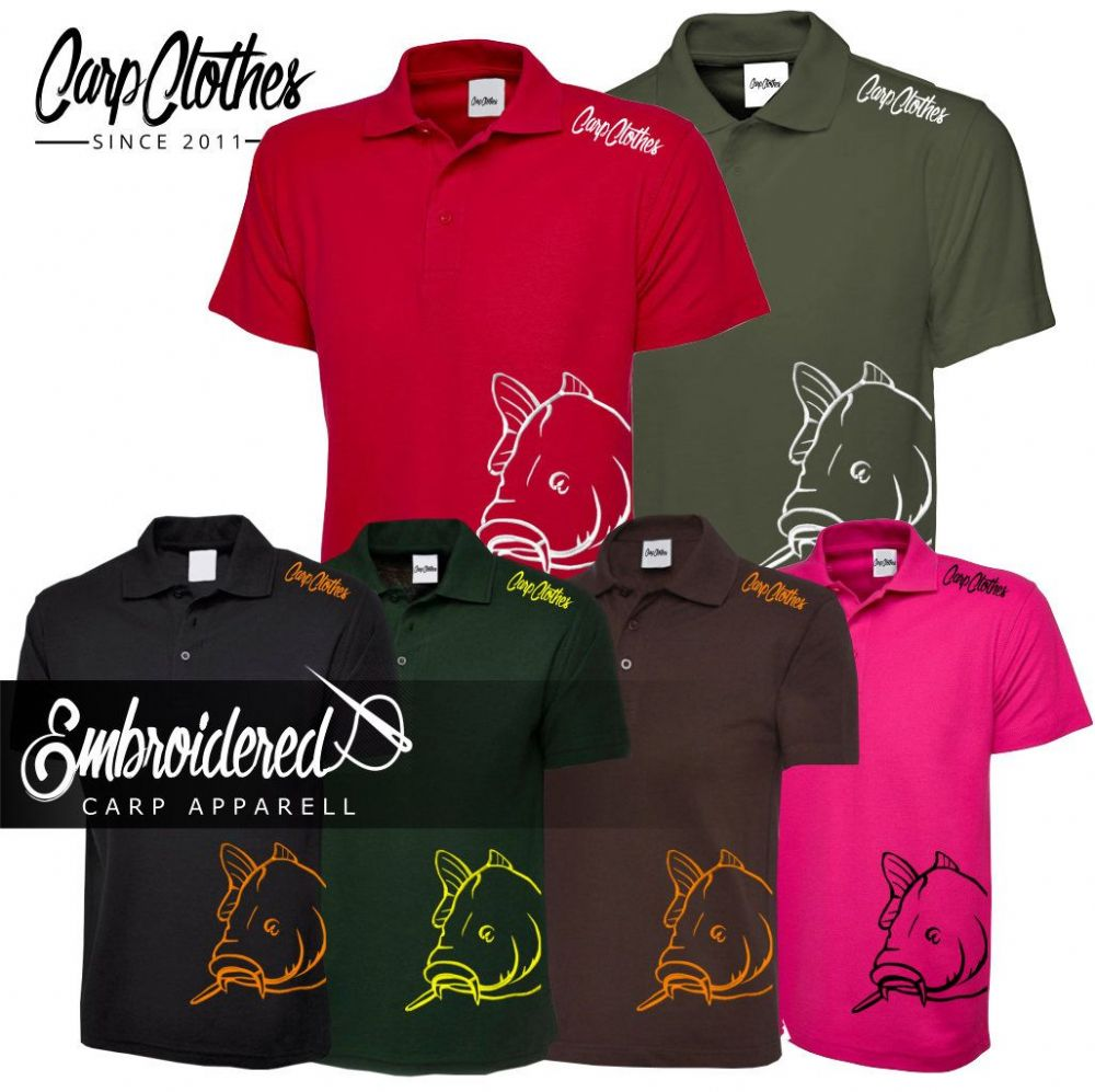 008 EMBROIDERED CARP POLO